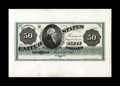 Large Size:Demand Notes, Fr. 148 Hessler 926 $50 1862 Legal Tender Face Proof Choice New.This plate letter B proof does not have any punch cancels a...