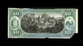 Large Size:Demand Notes, Fr. 409-23a Hessler 497 $10 National Bank Note Back Proof New.Hessler has accounted for four back proofs of this design wit...