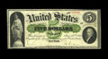 Large Size:Demand Notes, Fr. 1 $5 1861 Demand Note Very Fine. A rock solid example of thegrade, with strong pen signatures, perfect color and terrif...