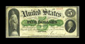 Large Size:Demand Notes, Fr. 1 $5 1861 Demand Note Fine. An old friend returns after a longhiatus. This note was last sold by CAA in June of 1994. N...