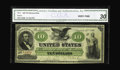 Large Size:Demand Notes, Fr. 8 $10 1861 Demand Note CGA Very Fine 30. Unlike so many $10Demand Notes, this piece has remained totally free of proble...