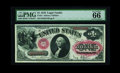 Large Size:Legal Tender Notes, Fr. 27 $1 1878 Legal Tender PMG Gem Uncirculated 66 EPQ. It is ouropinion this note should have been given an extra point s...