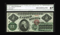 Large Size:Legal Tender Notes, Fr. 41 $2 1862 Legal Tender CGA Gem Uncirculated 67. This is thehighest third-party graded note we have been able to offer ...