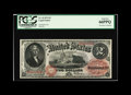 Large Size:Legal Tender Notes, Fr. 43 $2 1874 Legal Tender PCGS Gem New 66PPQ. We previously handled this note in our 1997 September CAA Auction. At that t...