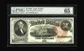 Large Size:Legal Tender Notes, Fr. 53 $2 1880 Legal Tender PMG Gem Uncirculated 65 EPQ. A veryrare one-number type with a total count in all grades combin...