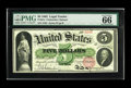 Large Size:Legal Tender Notes, Fr. 61a $5 1862 Legal Tender PMG Gem Uncirculated 66 EPQ. Thisearly Five which has flown under the census radar until tonig...
