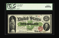 """Fr. 61a $5 1862 Legal Tender PCGS Gem New 65PPQ. Just about a year ago, we sold this note; where it was cataloged, """"..."""