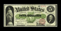 Large Size:Legal Tender Notes, Fr. 62 $5 1862 Legal Tender About New. We are most pleased with the originality of the paper on this $5 Legal Tender. Were i...