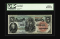 Fr. 64 $5 1869 Legal Tender PCGS Gem New 65PPQ. Larger margins are nearly impossible, though a little more consistent bo...