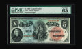 Large Size:Legal Tender Notes, Fr. 64 $5 1869 Legal Tender PMG Gem Uncirculated 65 EPQ. This notemakes its first appearance at public auction according to...