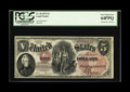 Large Size:Legal Tender Notes, Fr. 68 $5 1875 Legal Tender PCGS Very Choice New 64PPQ. A handsome note that undoubtedly would have graded higher but for th...