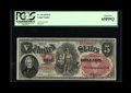 Large Size:Legal Tender Notes, Fr. 69 $5 1878 Legal Tender PCGS Gem New 65PPQ.This example comes from the next sheet after our previous lot. The colors are...