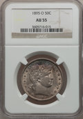 Barber Half Dollars: , 1895-O 50C AU55 NGC. NGC Census: (3/73). PCGS Population (12/80).Mintage: 1,766,000. Numismedia Wsl. Price for problem fre...