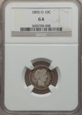 Barber Dimes: , 1895-O 10C Good 6 NGC. NGC Census: (17/123). PCGS Population(73/251). Mintage: 440,000. Numismedia Wsl. Price for problem ...