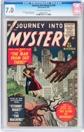 Golden Age (1938-1955):Science Fiction, Journey Into Mystery #26 (Marvel, 1955) CGC FN/VF 7.0 Off-white towhite pages....