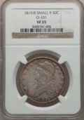 Bust Half Dollars, 1819/8 50C Small 9 VF35 NGC. O-101. NGC Census: (14/257). PCGSPopulation (19/166). Numismedia Wsl. Price for problem free...