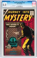 Silver Age (1956-1969):Horror, Journey Into Mystery #45 (Atlas, 1957) CGC VF 8.0 Off-white towhite pages....