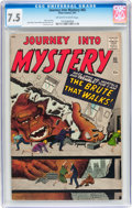 Silver Age (1956-1969):Horror, Journey Into Mystery #65 (Atlas, 1961) CGC VF- 7.5 Off-white towhite pages....