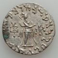 Ancients:Ancient Lots  , Ancients: SASANIAN KINGDOM - INDO-SCYTHIANS. Lot of two (2) AR tetradrachm and dracm.... (Total: 2 coins)