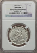 Seated Half Dollars: , 1864-S 50C -- Improperly Cleaned -- NGC Details. AU. NGC Census:(0/29). PCGS Population (4/27). Mintage: 658,000. Numismed...