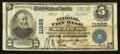 National Bank Notes:Missouri, Saint Louis, MO - $5 1902 Plain Back Fr. 608 National City Bank Ch.# 11989. ...