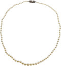 Estate Jewelry:Necklaces, Cultured Pearl, Silver Necklace, Mikimoto. ...