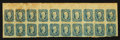 Confederate Notes:Group Lots, 10 Cents Confederate Stamps Block of Twenty.. ...