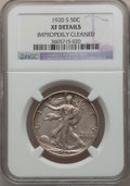 Walking Liberty Half Dollars: , 1920-S 50C -- Improperly Cleaned -- NGC Details. XF. NGC Census:(3/367). PCGS Population (31/435). Mintage: 4,624,000. Num...