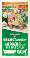 "Movie Posters:Comedy, Sunday Calm (Pathé, 1923). Three Sheet (40.75"" X 80"").. ..."