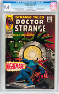 Silver Age (1956-1969):Horror, Strange Tales #164 (Marvel, 1968) CGC NM 9.4 White pages....