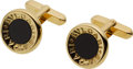 Estate Jewelry:Cufflinks, Gentleman's Black Onyx, Gold Cuff Links, Bvlgari. ...