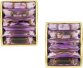 Estate Jewelry:Earrings, Amethyst, Gold Earrings, H. Stern. ...