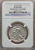 Walking Liberty Half Dollars: , 1919-S 50C -- Improperly Cleaned -- NGC Details. XF. NGC Census:(22/252). PCGS Population (38/334). Mintage: 1,552,000. Nu...