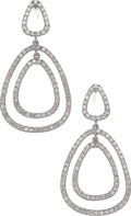 Estate Jewelry:Earrings, Diamond, White Gold Earrings, Frei. ...