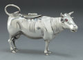 Silver & Vertu, A DUTCH SILVER FIGURAL CREAMER WITH GLASS EYES . Maker unidentified, Maastricht, The Netherlands, circa 1935. Marks: (lion p...