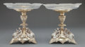 Silver Holloware, British:Holloware, A PAIR OF VICTORIAN SILVER PLATED AND CUT GLASS COMPOTES . Makerunknown, England, circa 1870. Marks: (British Registry Mark...