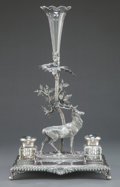 Silver & Vertu:Hollowware, A JAMES DEAKIN & SONS SILVER PLATED FIGURAL INK STAND . James Deakin & Sons, Sheffield, England, circa 1870. Marks: JD & S... (Total: 4 Items)
