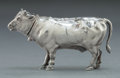 Silver Holloware, Continental:Holloware, A CONTINENTAL SILVER FIGURAL BOX . Maker unknown, probably Hanau,Germany, circa 1897. Marks: (lion passant), (leopard's...