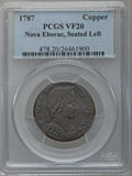 Colonials: , 1787 COPPER Nova Eborac Copper, Seated Left VF20 PCGS. PCGSPopulation (15/102). NGC Census: (1/16). (#478)...