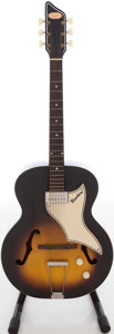 Musical Instruments:Electric Guitars, 1960s Supro Ranchero Sunburst Archtop Electric Guitar, Serial # T1646.. ...