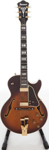 Musical Instruments:Electric Guitars, 2000s Ibanez GB-10 George Benson Sunburst Semi-Hollow Body ElectricGuitar, Serial # 2588....