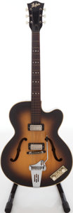 Musical Instruments:Electric Guitars, 1960s Hofner President Archtop Electric Guitar....