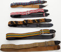 Musical Instruments:Miscellaneous, 1960s-1970s Vintage Guitar Strap Lot of 5....