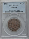 Colonials: , 1724 1/2P Hibernia Halfpenny VF20 PCGS. PCGS Population (4/45). NGCCensus: (1/15). (#190)...