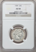 Barber Quarters: , 1909 25C AU58 NGC. NGC Census: (46/334). PCGS Population (57/430).Mintage: 9,268,650. Numismedia Wsl. Price for problem fr...