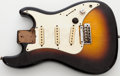 Musical Instruments:Electric Guitars, 1980s Fender Squire Bullet Sunburst Loaded Solid Electric GuitarBody. ...