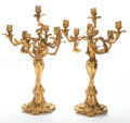 Decorative Arts, French:Other , A PAIR OF GUILLAUME DENIÈRE FRENCH LOUIS XV-STYLE GILT BRONZE SEVENLIGHT CANDELABRA . Guillaume Denière (French, 1815-1903)... (Total:2 Items)