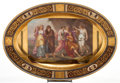 Ceramics & Porcelain, Continental:Antique  (Pre 1900), A ROYAL VIENNA-STYLE PORCELAIN CHARGER PAINTED BY JÄGER: TELEMACHUS AND HIS TEACHER ON CALYPSO . Maker unknown, Vien...