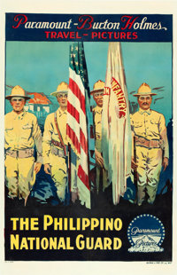 """Burton Holmes Travel Pictures (Paramount, 1921). """"The Philippino National Guard"""" Poster (27.5"""" X 42.25&qu..."""