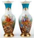 Decorative Arts, French:Other , A PAIR OF FRENCH PORCELAIN VASES MOUNTED AS LAMPS . Maker unknown,France, circa 1900. 39-1/2 inches high (100.3 cm). ... (Total: 2Items)